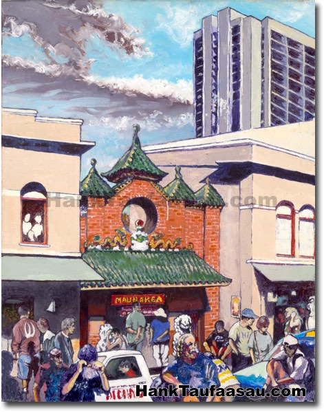 Maunakea Market - Hawaii Fine Art by Hank Taufaasau