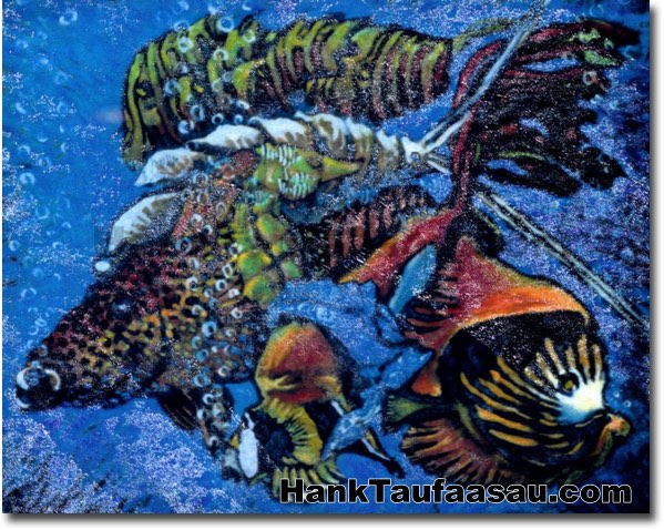 Fish Stew - Hawaii Fine Art by Hank Taufaasau