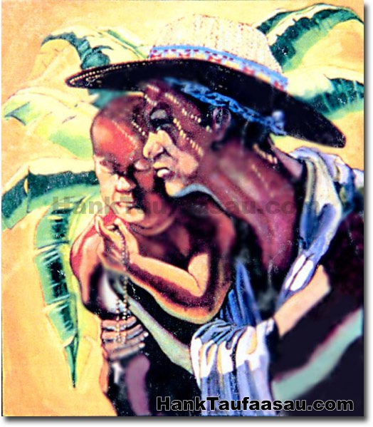 Mother And Child - Hawaii Fine Art by Hank Taufaasau
