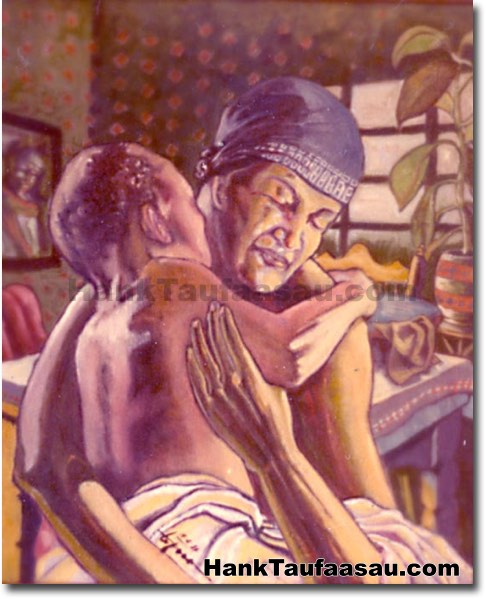 Mother And Child II - Hawaii Fine Art by Hank Taufaasau