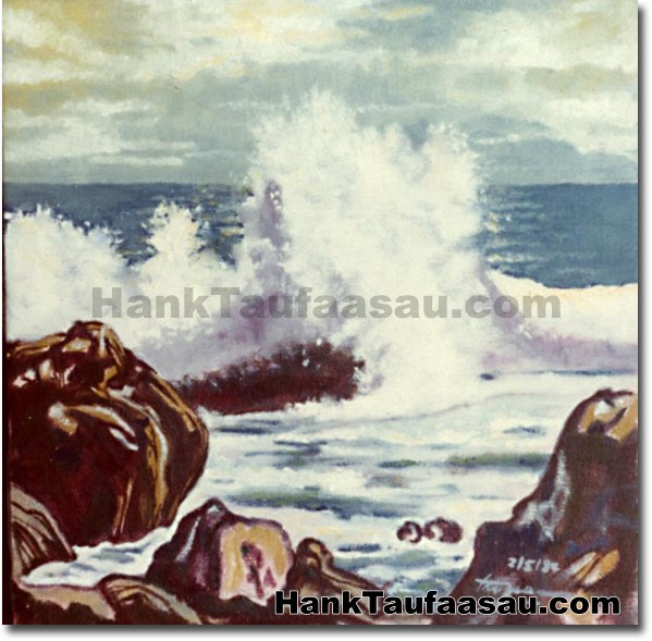 Laupahoehoe Surf - Hawaii Fine Art by Hank Taufaasau
