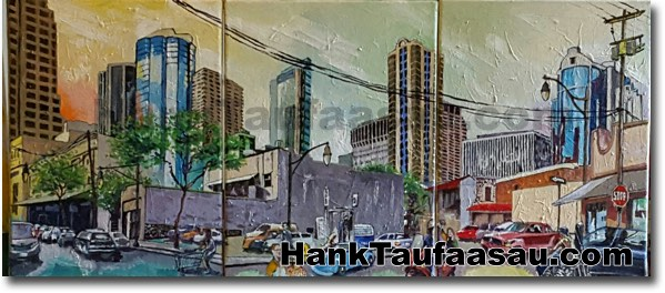 Smith and Pauahi:Triptych - Hawaii Fine Art by Hank Taufaasau