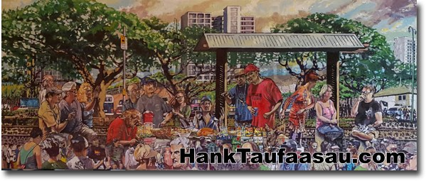 Aala Park Weed and Feed - Hawaii Fine Art by Hank Taufaasau