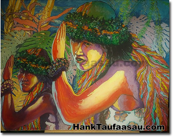 Ku'u Pua, Ku'u Lei, Ku'u Milimili - Hawaii Fine Art by Hawaii Artist Hank T